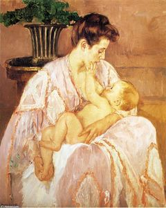 Mary Stevenson Cassatt - Young Mother Nursing Her Child
