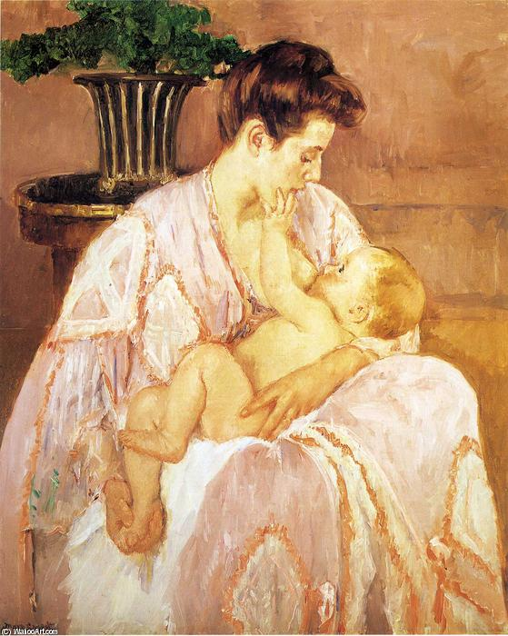 famous painting Young Mother Nursing Her Child of Mary Stevenson Cassatt