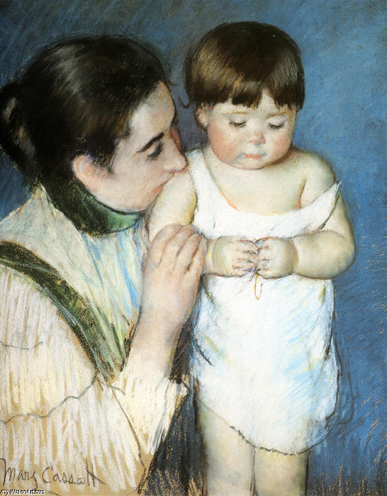 famous painting Young Thomas and His Mother of Mary Stevenson Cassatt