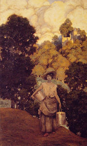 Maxfield Parrish - Milkmaid