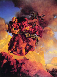 Maxfield Parrish - Princess Parizade Bringing Home the Singing Tree