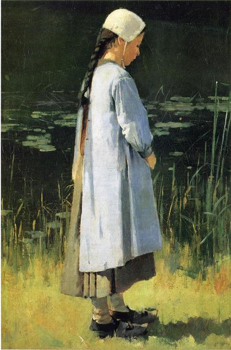 famous painting Angelus of Theodore Robinson