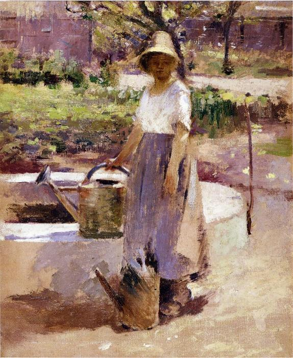 famous painting At the Fountain 1 of Theodore Robinson