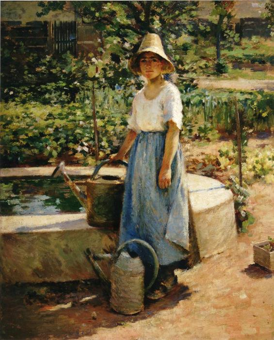 famous painting At the Fountain of Theodore Robinson