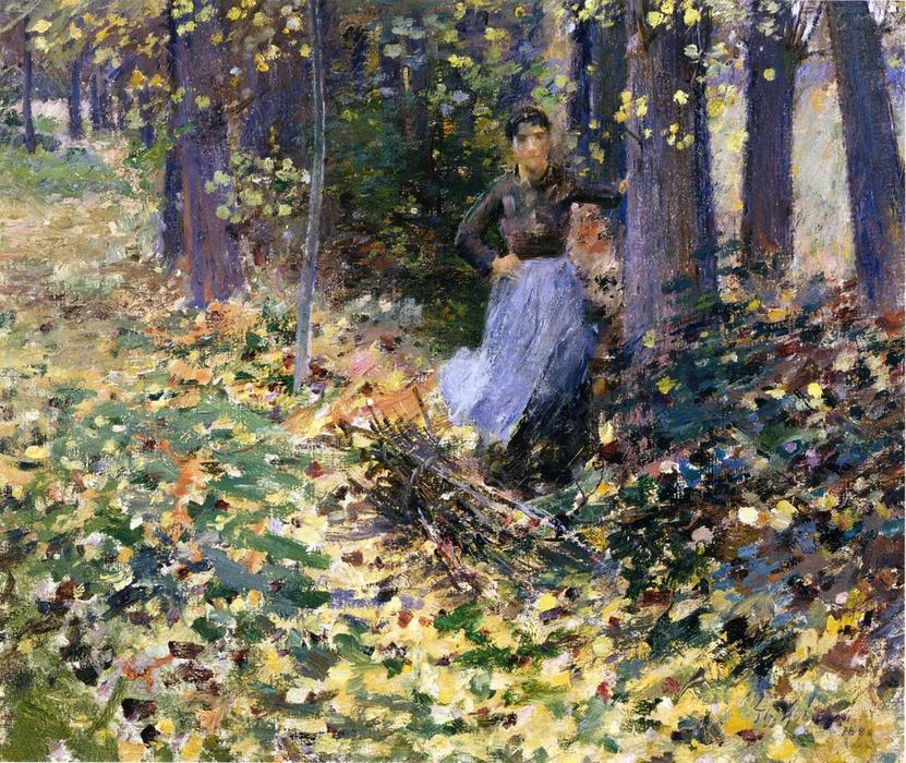 famous painting Autumn Sunlight of Theodore Robinson