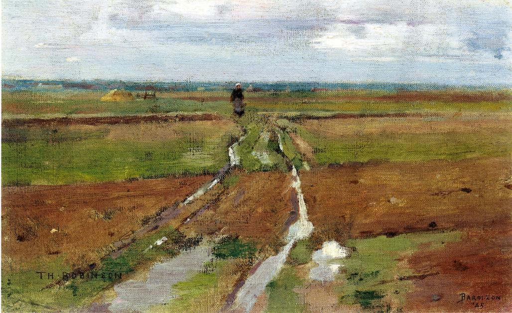 famous painting Barbizon of Theodore Robinson