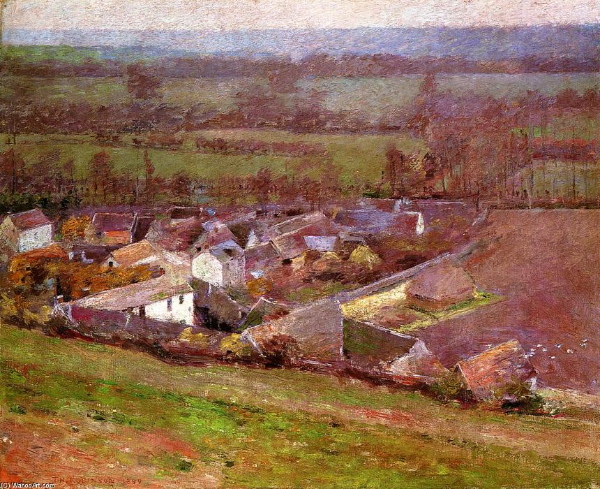 famous painting Bird's Eye View.Giverny of Theodore Robinson