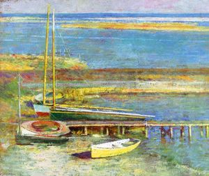 Theodore Robinson - Boats at a Landing 1