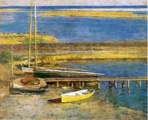 Theodore Robinson - Boats at a Landing