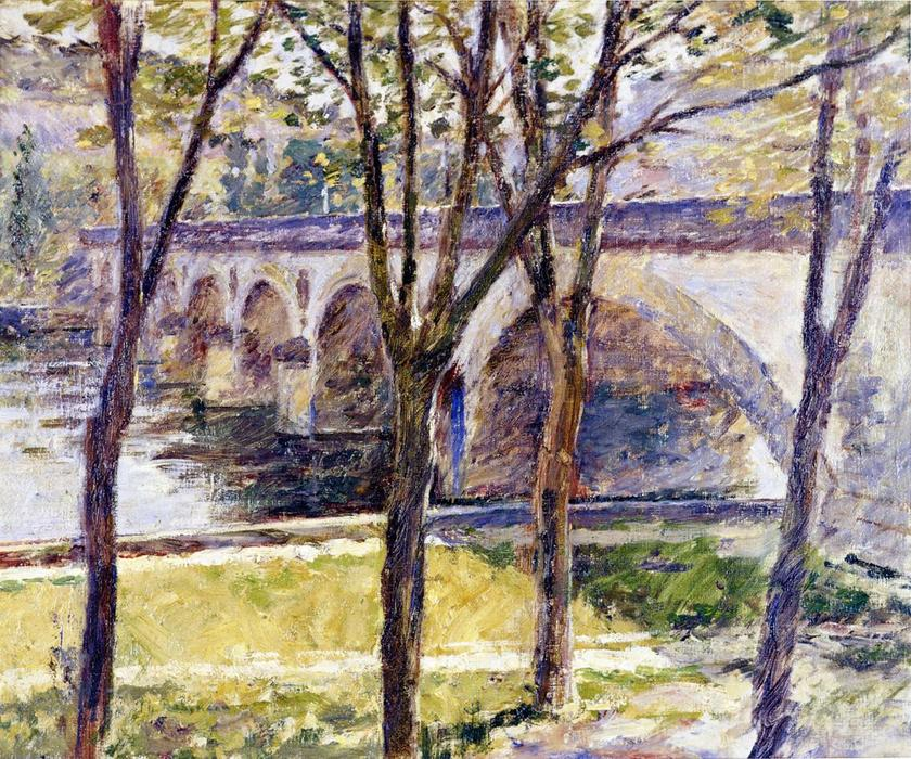 famous painting Bridge near Giverny of Theodore Robinson