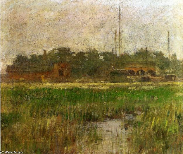 famous painting Creek at Low Tide of Theodore Robinson