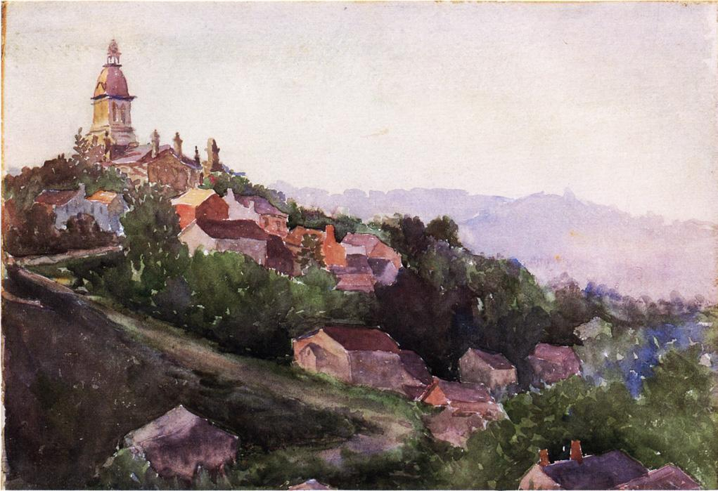 famous painting Houses in France of Theodore Robinson