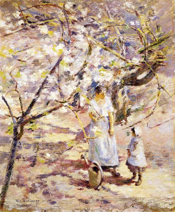 famous painting In the Orchard 1 of Theodore Robinson