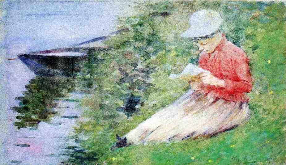 famous painting La Roche-Guyon of Theodore Robinson