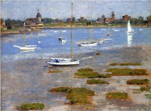 Theodore Robinson - Low Tide, The Riverside Yacht Club