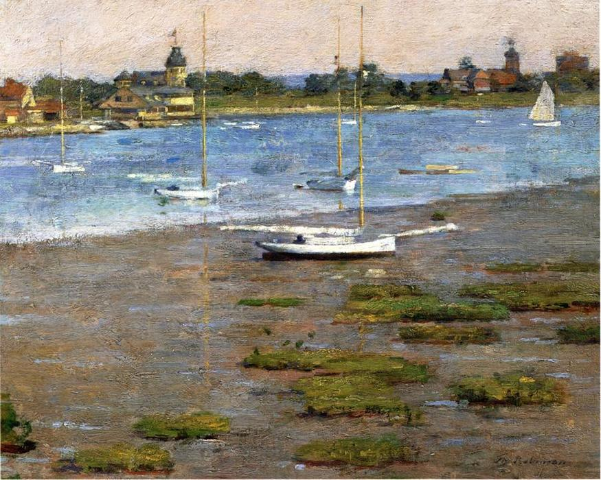 famous painting The Anchorage, Cos Cob of Theodore Robinson