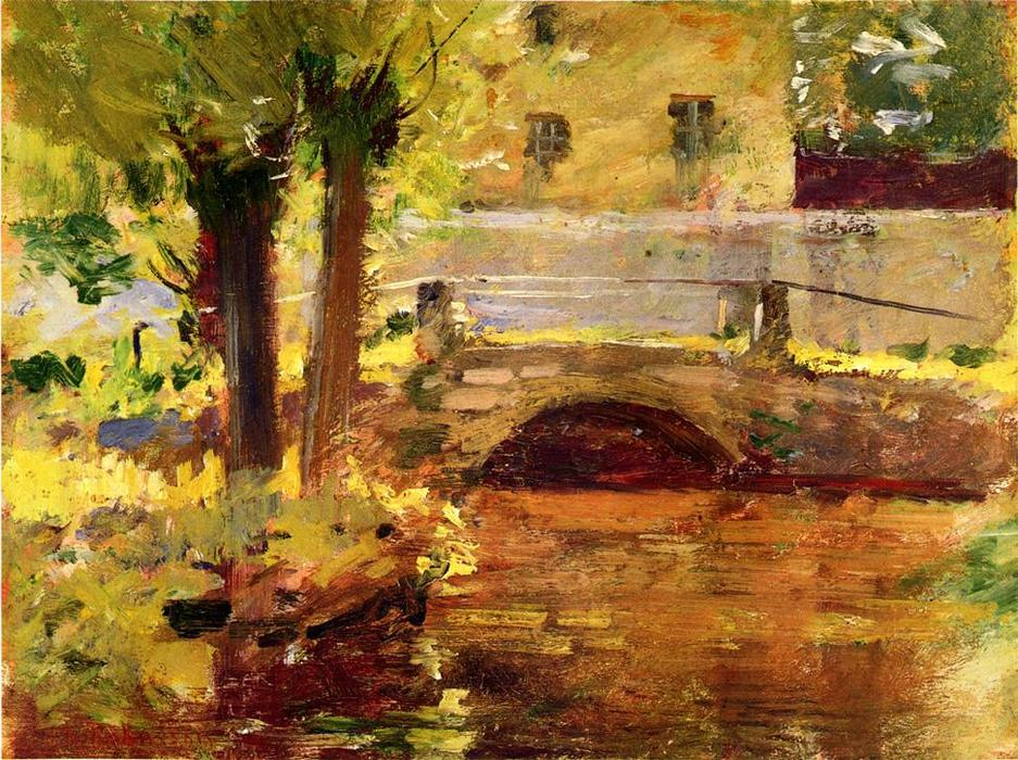 famous painting The Bridge at Giverny of Theodore Robinson