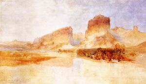 Thomas Moran - Green River Cliffs, Wyoming