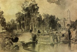 Thomas Moran - Women at the Fountain, Vera Cruz