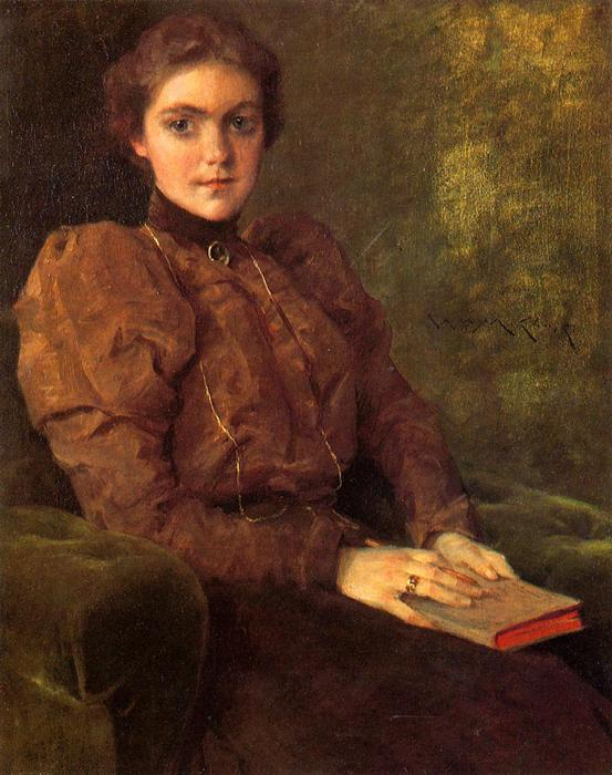 famous painting A Lady in Brown of William Merritt Chase