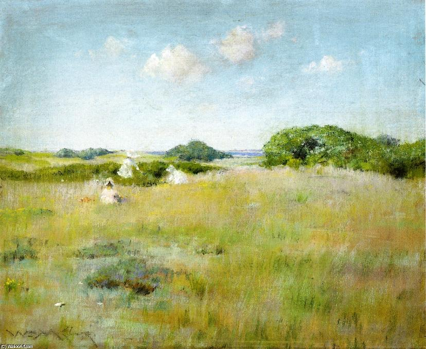 famous painting A Summer Day of William Merritt Chase