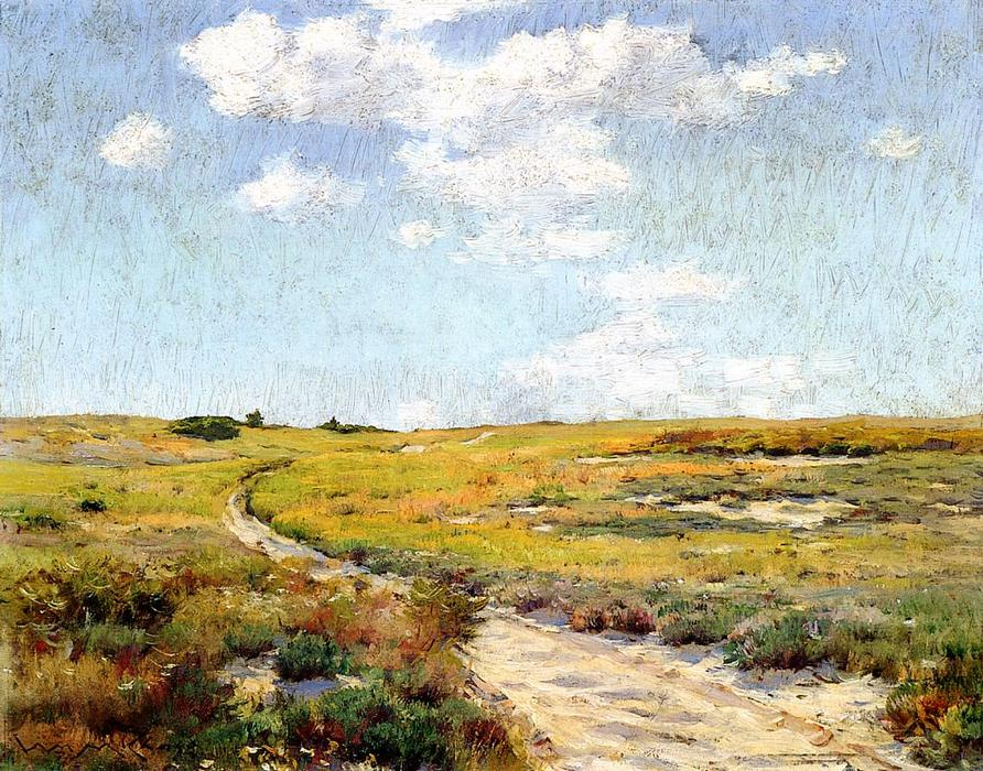 famous painting A Sunny Afternoon, Shinnecock Hills of William Merritt Chase