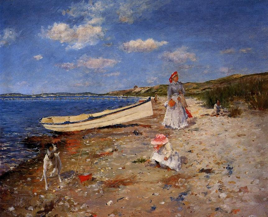 famous painting A Sunny Day at Shinnecock Bay of William Merritt Chase