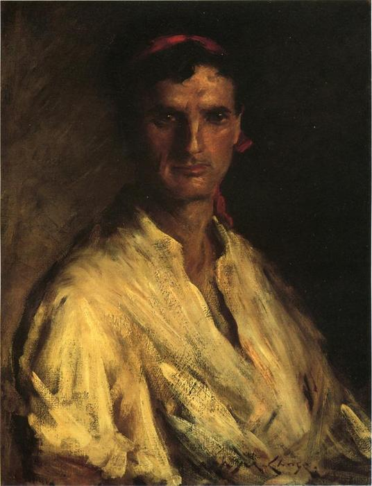 famous painting A Young Roman of William Merritt Chase