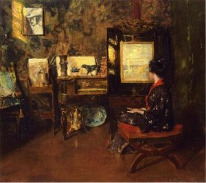 William Merritt Chase - Alice in the Shinnecock Studio