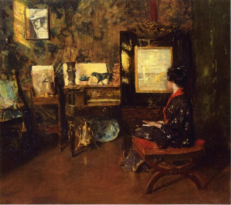famous painting Alice in the Shinnecock Studio of William Merritt Chase