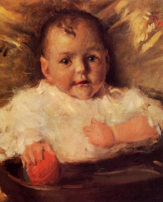 famous painting Bobbie, A Portrait Sketch of William Merritt Chase