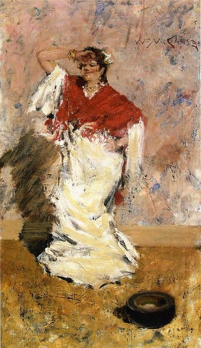 famous painting Dancing Girl of William Merritt Chase