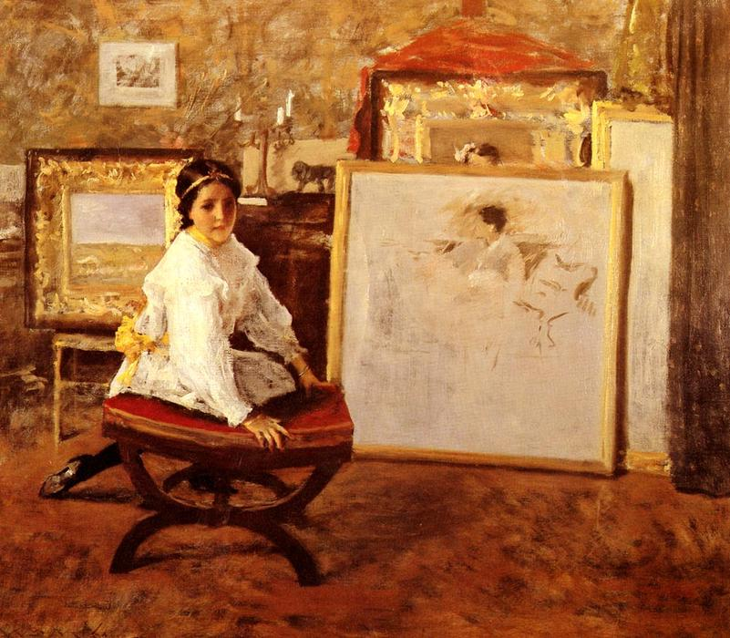 famous painting Did You Speak to Me- of William Merritt Chase