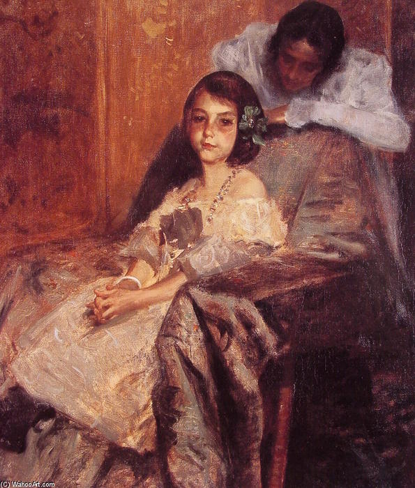 famous painting Dorothy and Her Sister 1 of William Merritt Chase