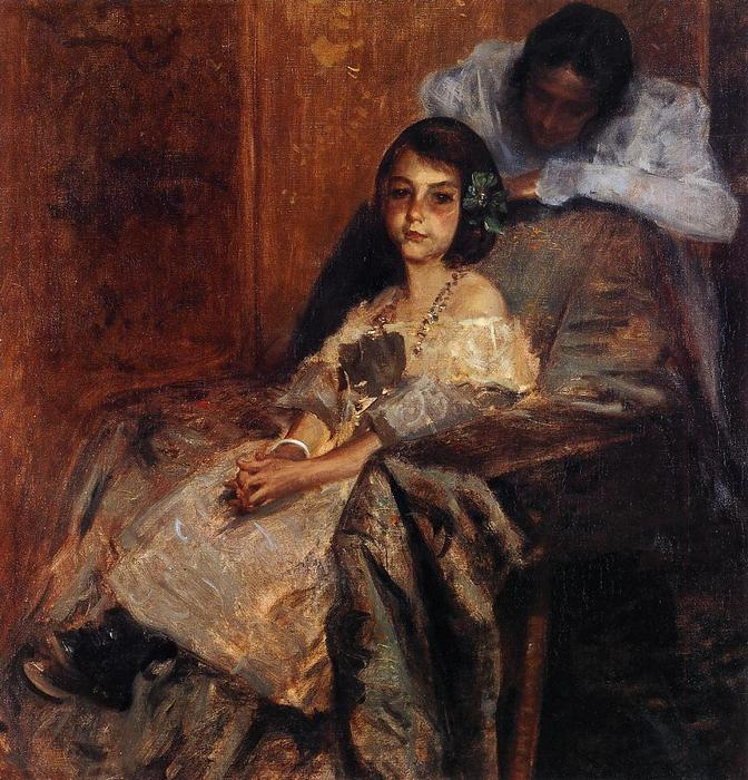 famous painting Dorothy and Her Sister of William Merritt Chase