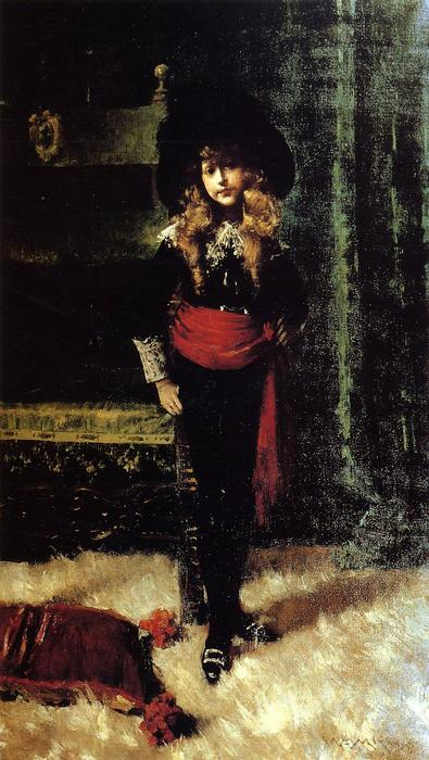 famous painting Elsie Leslie Lyde as Little Lord Fauntleroy of William Merritt Chase