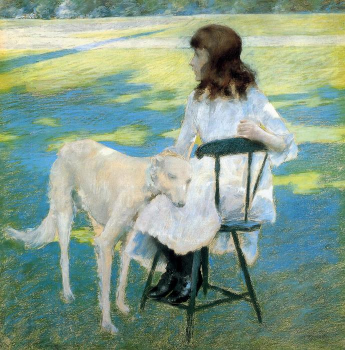 famous painting Good Friends of William Merritt Chase