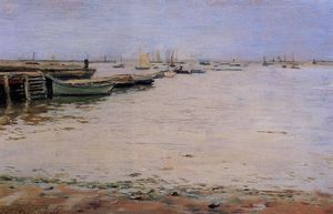 William Merritt Chase - Gowanus Bay aka Misty Day, Gowanus Bay
