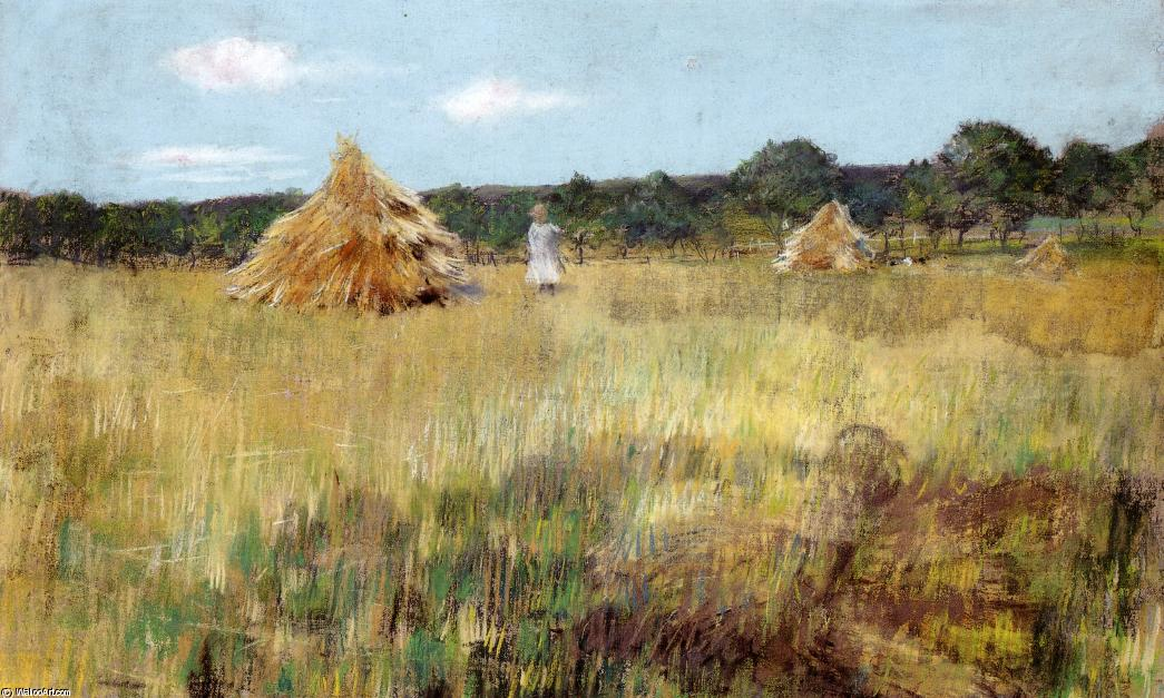 famous painting Grain Field, Shinnecock Hills of William Merritt Chase