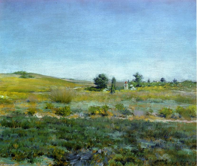 famous painting Gray Day in Spring (aka Summer) of William Merritt Chase