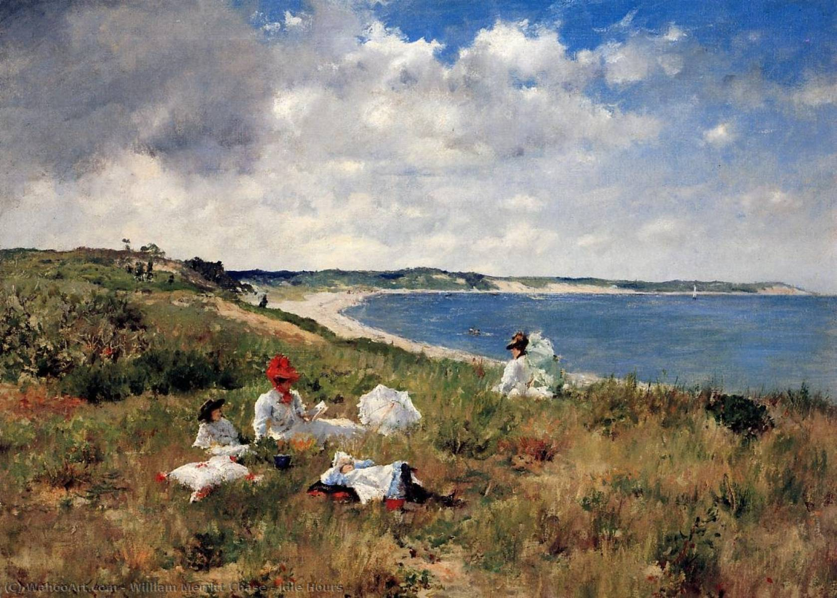 famous painting Idle Hours of William Merritt Chase