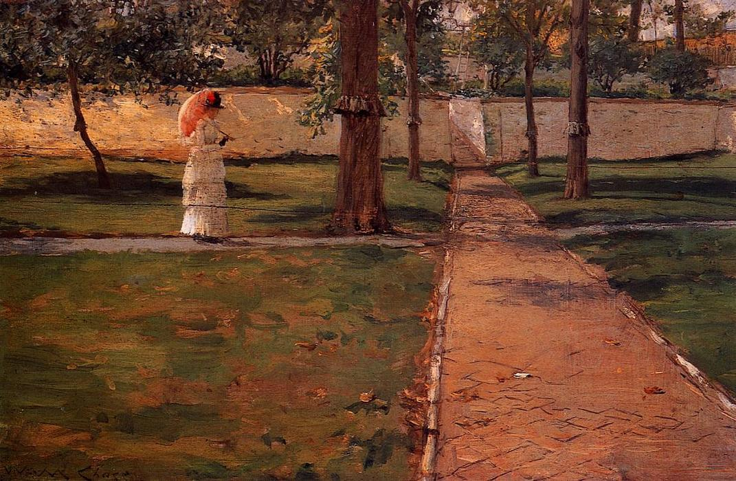 famous painting In Brooklyn Navy Yard of William Merritt Chase