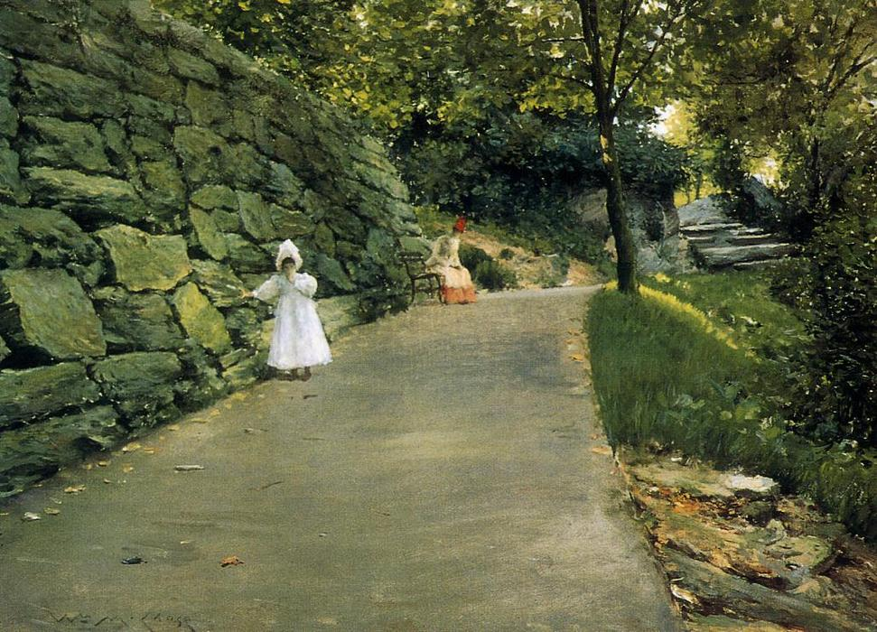 famous painting In the Park - a By-Path of William Merritt Chase