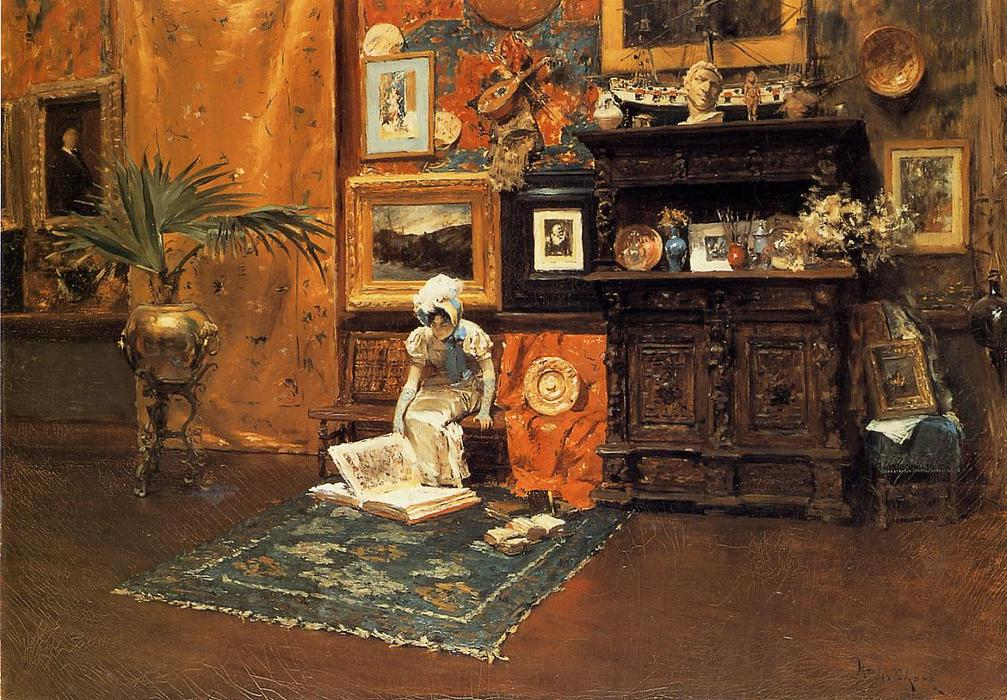 famous painting In the Studio 1 of William Merritt Chase
