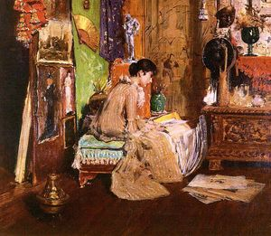 William Merritt Chase - In the Studio Corner