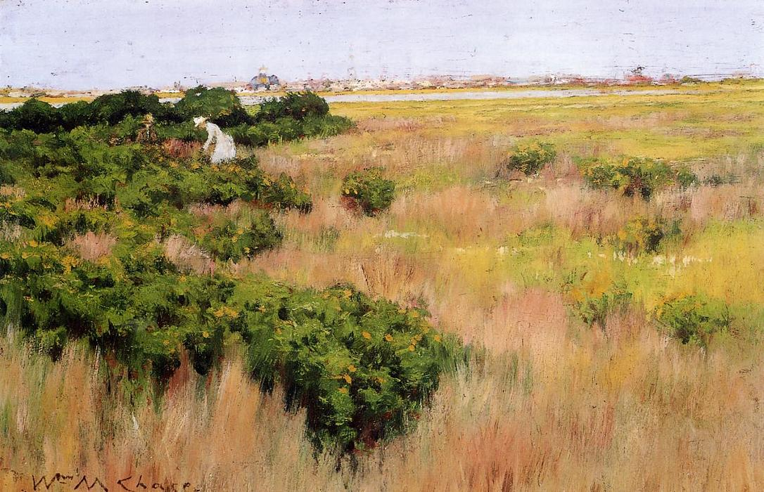famous painting Landscape near Coney Island of William Merritt Chase