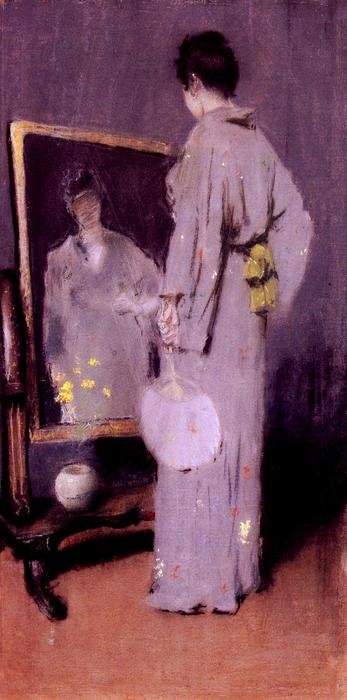famous painting Making Her Toilet of William Merritt Chase