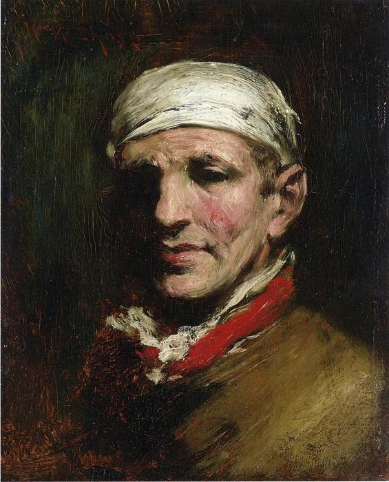 famous painting Man with Bandana of William Merritt Chase