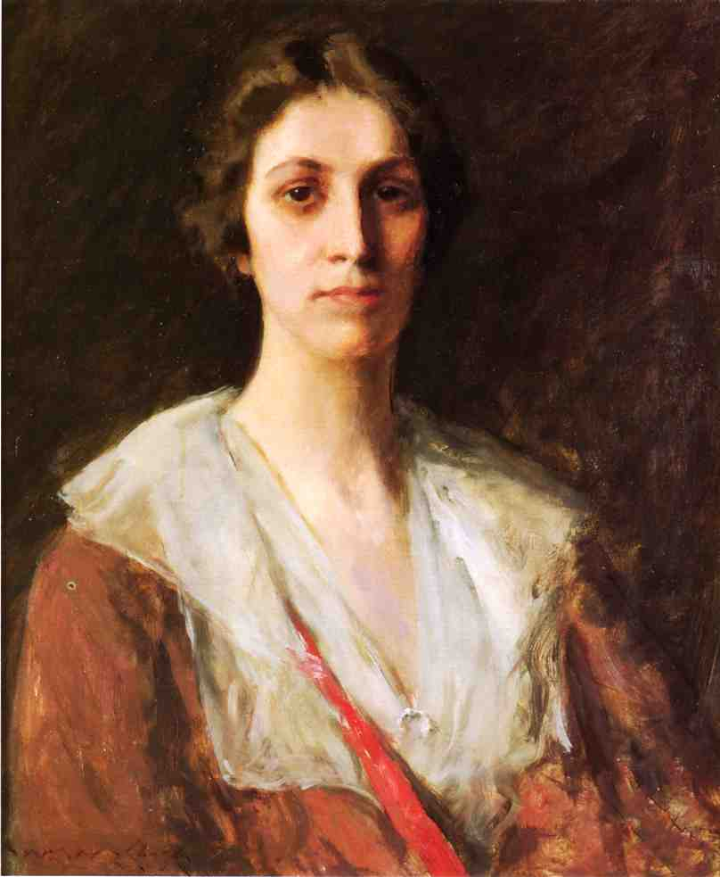 famous painting Miss Mary Margaret Sweeny of William Merritt Chase