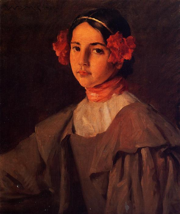 famous painting My Daughter Alice of William Merritt Chase